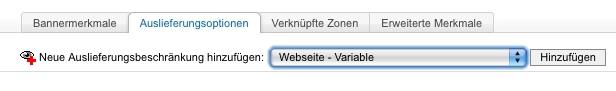 Auslieferungsbeschränkung Webseite:Variable